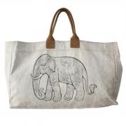 Weekender Canvastasche Miöitärzelt Reisetasche Elefant