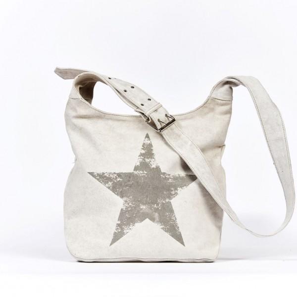 Tasche Umhängetasche Leinentasche Damentasche Tasche Schultertasche Stern