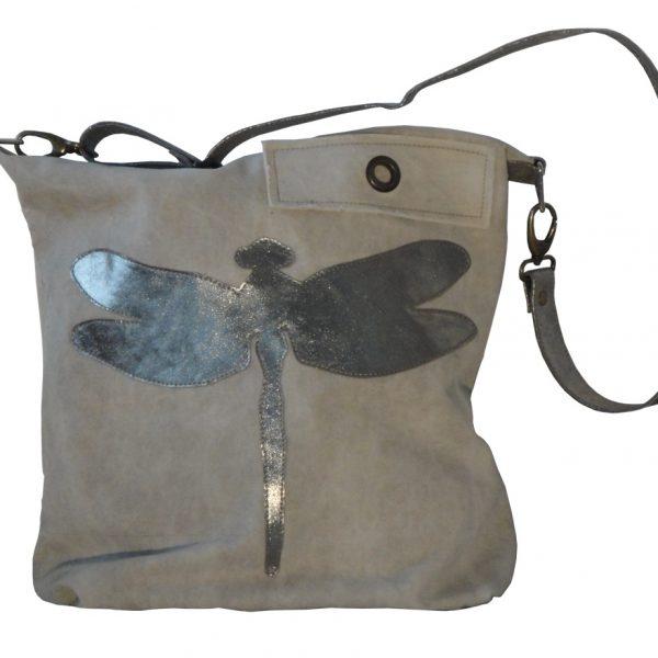 Umhängetasche Tasche Libelle Militärzelt Canvas Canvastasche