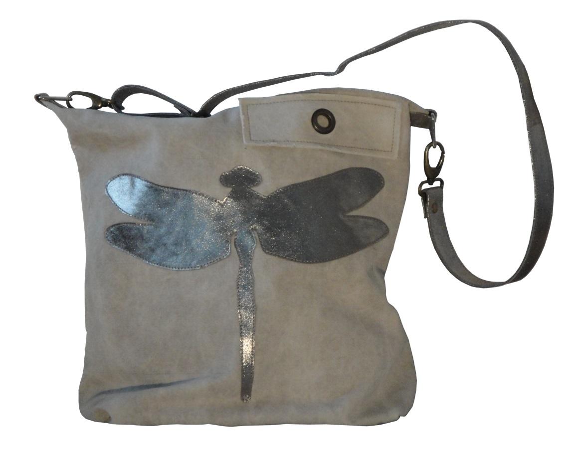 f0c72a1fa2e4b Umhängetasche Schultertasche Damentasche Damen Libelle beige. Angebot! Umhängetasche  Tasche Libelle Militärzelt Canvas Canvastasche