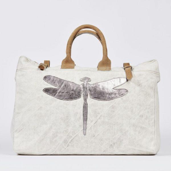 Weekender Reisetasche Tasche beige Libelle Militärzelt