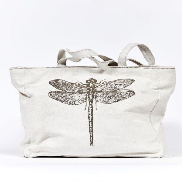 Shopper Libelle Einkaufstasche Tasche Schultertasche Militärzelt Recycling