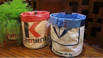 Bürobehälter Papierkorb Bürokorb Behälter Zementsack Recycling
