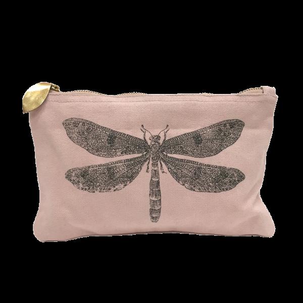Kulturtasche Schminktasche Kosmetiktasche Libelle Nolinearts Baumwolle
