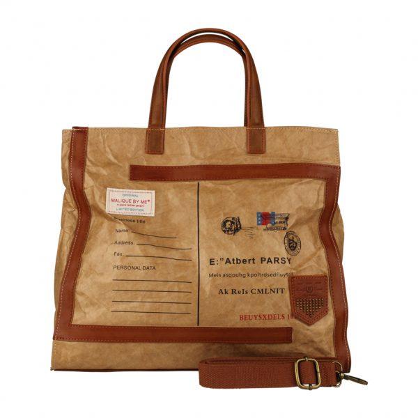 Malique by me Nolinearts waxed paper Tragetasche Tasche Damentasche Handtasche Wachstasche  maliquebyme