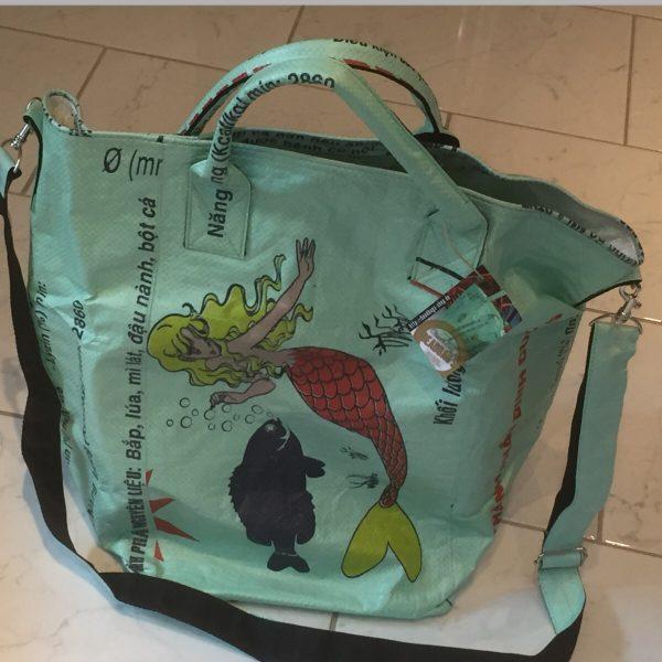 Meerjungfrau Beadbags Nolinearts Wäschekorb Wäschesack Strandtasche Schultertasche
