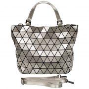 Handtasche Shopper Tragetasche Schultertasche Tasche Damentasche Silber Malique Nolinearts