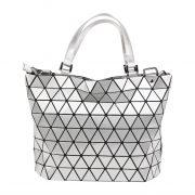 malique by me nolinearts handtasche silber tasche shopper