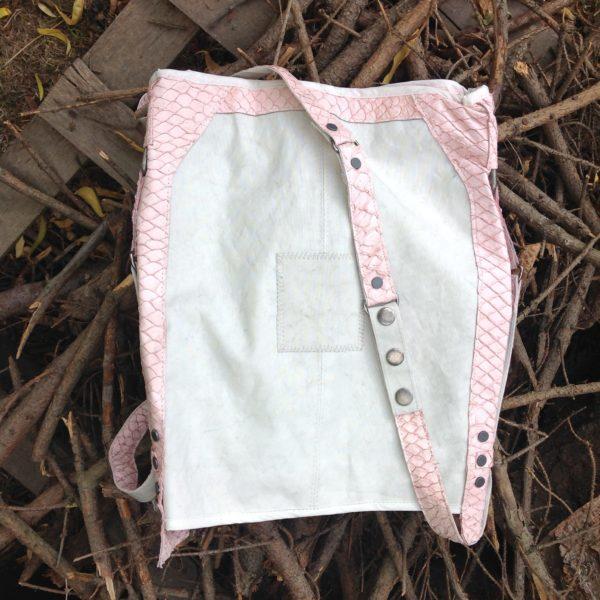 Schultertasche Segeltuchtasche Nolinearts Recycling Damentasche Fischleder