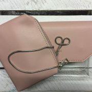 BY ME: Handtasche Abendtasche Umhängetasche Damentasche transparent rosa