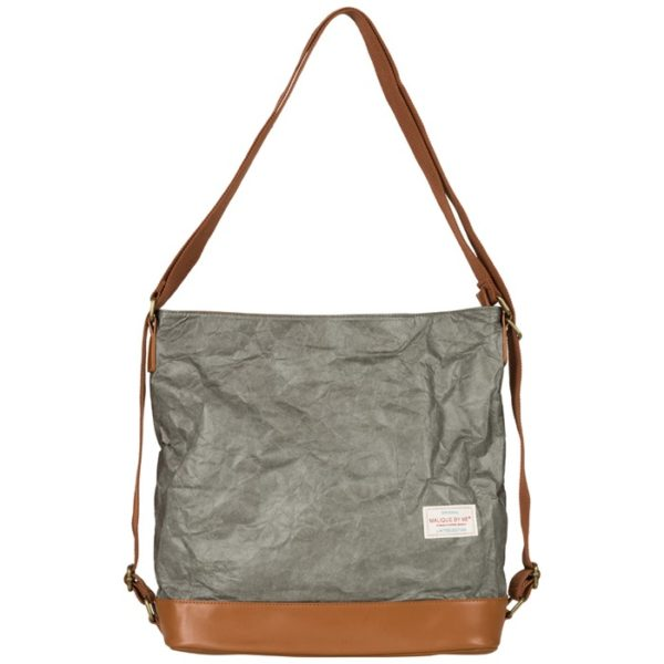 waxed paper malice by me Handtasche damentasche nolinearts Rucksack taupe