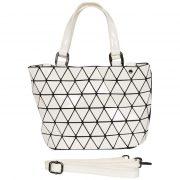 Handtasche Tragetasche Schultertasche Tasche Damentasche Weiß Malique Nolinearts