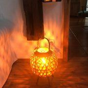 Bambus Lampe Natur Stehlampe Dekoration Nolinearts Holzlampe