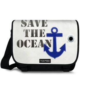 NoFish Segeltuch Segeltuchtasche Umhängetasche Schultertasche Ocean Nolinearts