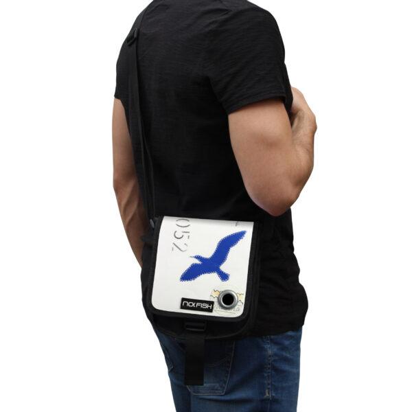 No Fish nofish segeltuch Tasche aus Segeltuch Umhängetasche Schultertasche Nolinearts Segeltuchtasche Vogel Möwe