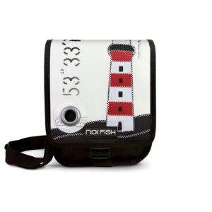 No Fish nofish segeltuch Tasche aus Segeltuch Umhängetasche Schultertasche Nolinearts Segeltuchtasche Leuchtturm