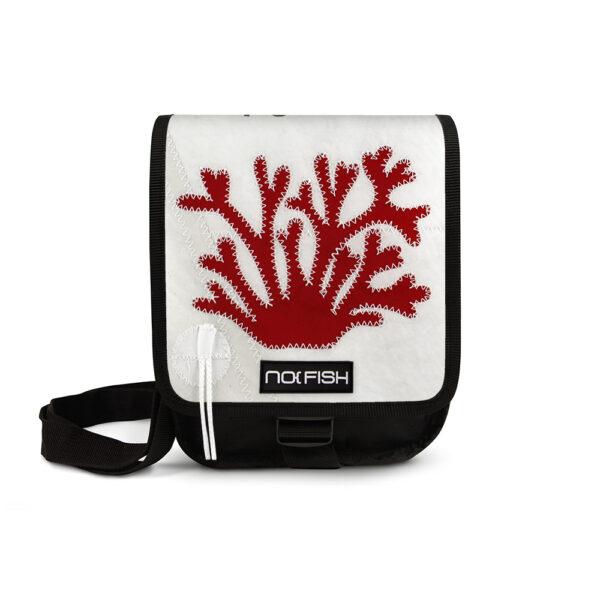 No Fish nofish segeltuch Tasche aus Segeltuch Umhängetasche Schultertasche Nolinearts Segeltuchtasche Koralle