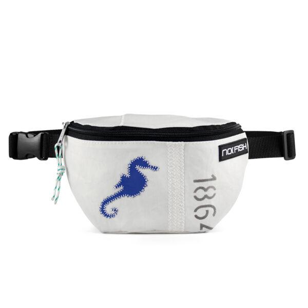 No Fish nofish segeltuch Tasche aus Segeltuch Umhängetasche Schultertasche Seepferd blau