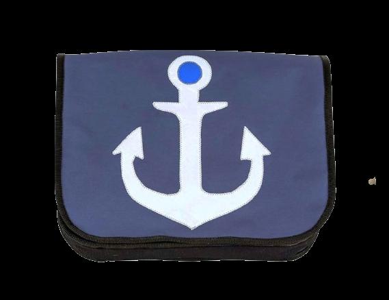 Tasche aus gebrauchten Segeln Segeltuchtasche Anker