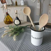 Emaille Topf Küche Kochlöffel