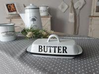 Butterdose Butter Butterglocke Butterbehälter Butterbox Emaille