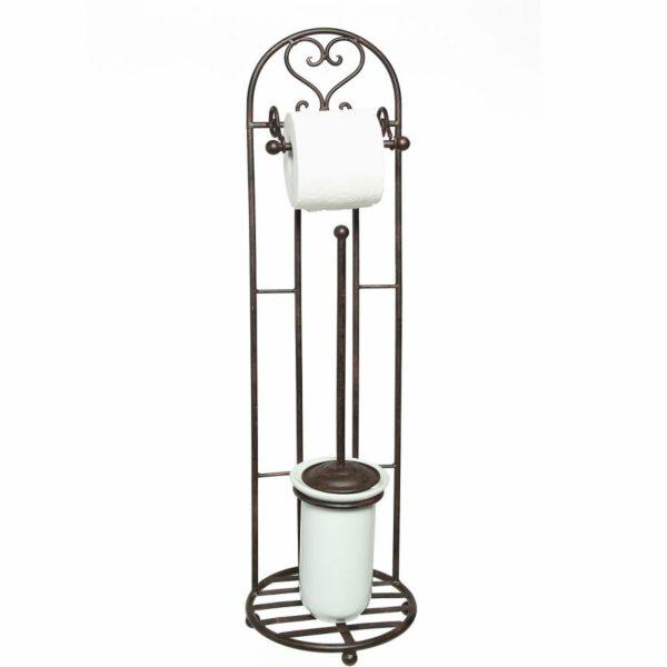 Toilettenrollenständer antikweiss Klopapier Klopapuerhalter WC Toilette Bad Badezimmer Klopapier Klopapierhalter