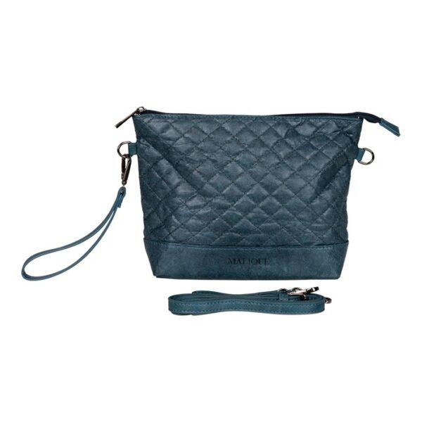 Malique By Me Nolinearts Handtasche blau waxed Paper Damentasche
