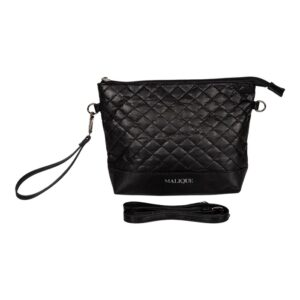 Malique By Me Nolinearts Handtasche schwarz waxed Paper Damentasche