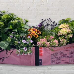 Blumentopf Recycling Upcycling Pflanzentopf Garten Vase Beadbags Nolinearts