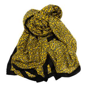Schal Tuch gelb schwarz Malique By Me Nolinearts