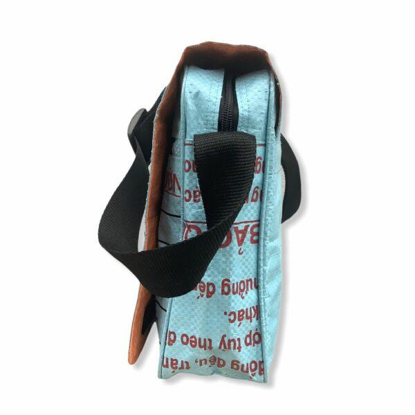 Beadbag Schultertasche Upcycling Recycling Tasche aus Zement Nolinearts