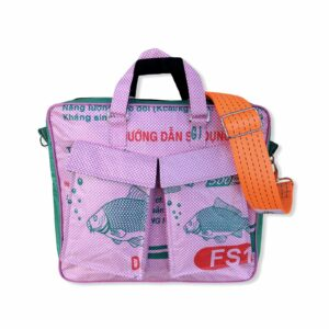 Beadbag Schultertasche Upcycling Recycling Tasche aus Reissack Pink Nolinearts