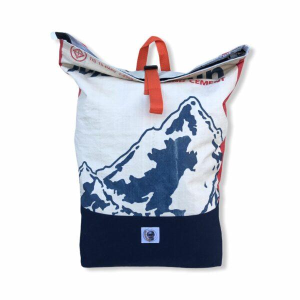 Beadbags Rucksack Zementsack upcycling Recycling Backpack Upcycling Nolinearts